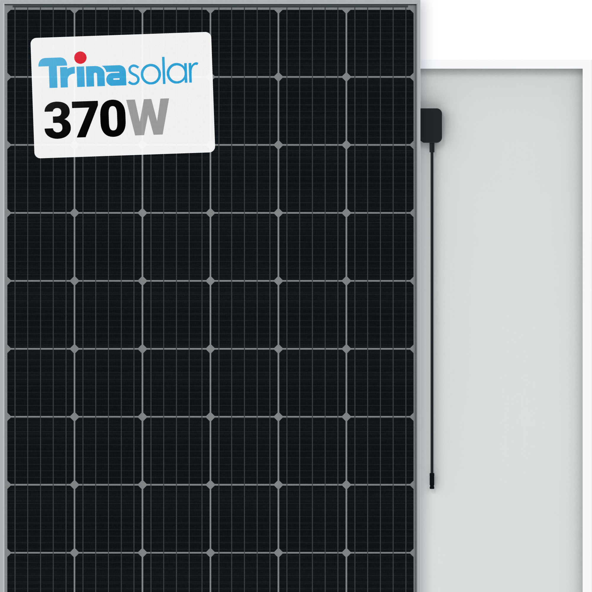 Trina 370w Solar Panel 72 Cell Tsm 370 De14a Ll Monocrystalline Black A1 Solar Store