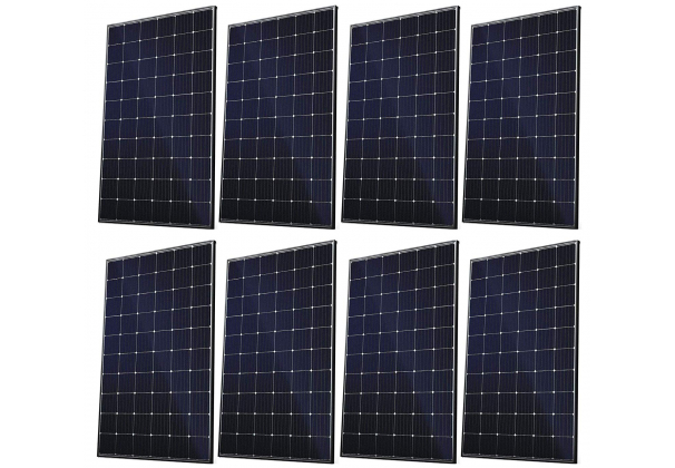 Set of 8 Canadian Solar panels 300W each panel
